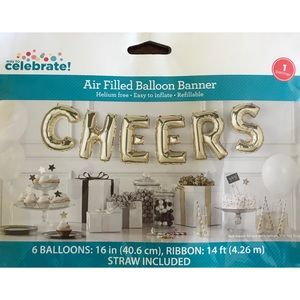 "Other - 🆕 ""Cheers"" Gold Ballon Banner"